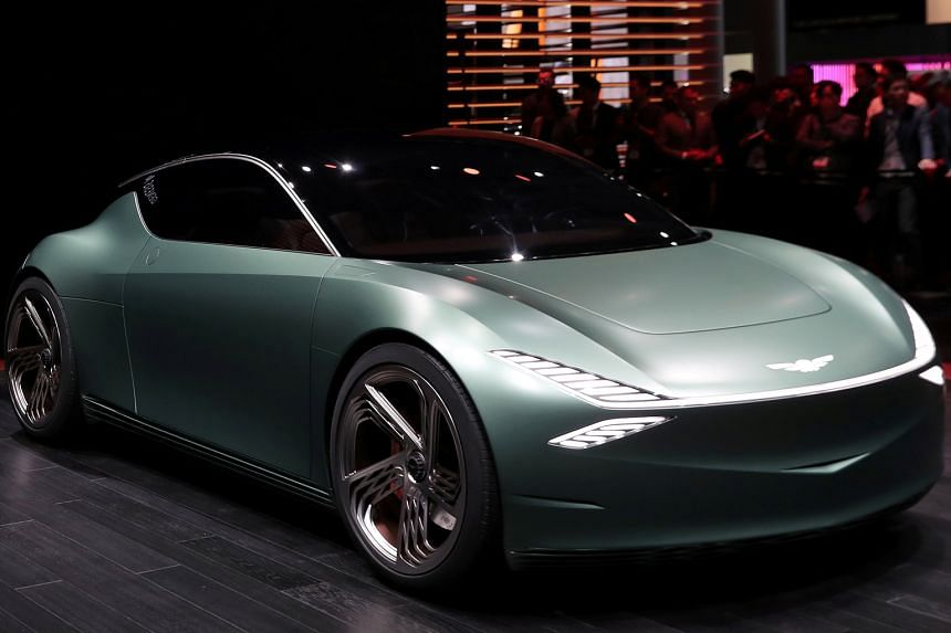The Genesis Mint concept car at the New York International Auto Show this year. The South Korean brand has performed well in terms of initial quality in the survey.