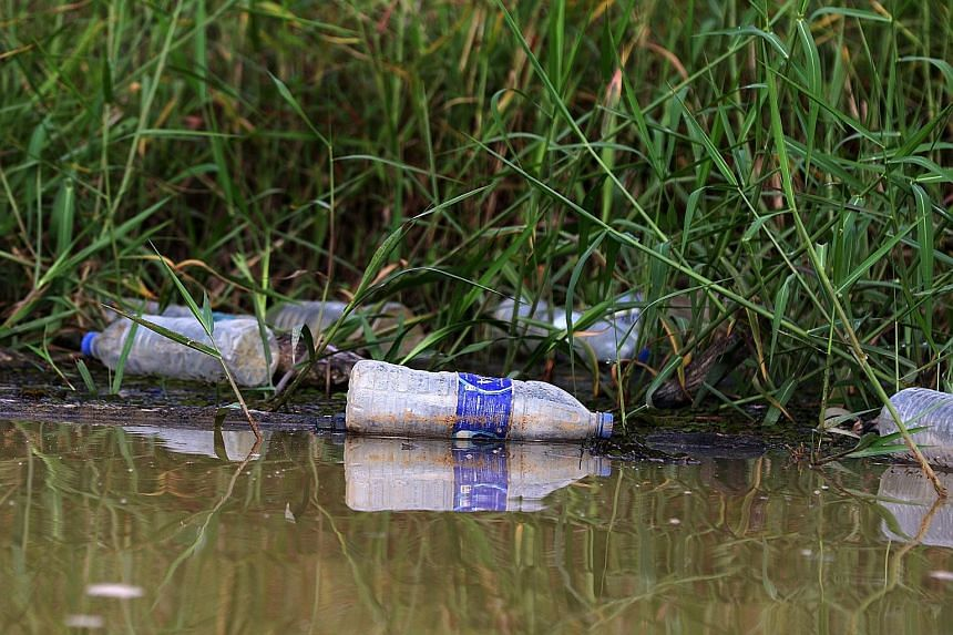 Rubbish along the banks of Johor River. Recent incidents have sparked concerns about water pollution in the river, which flows 80km from Sayong Pinang in Kota Tinggi in the north to the river mouth in Teluk Sengat, in Johor Baru, in the south. SAJ Ra