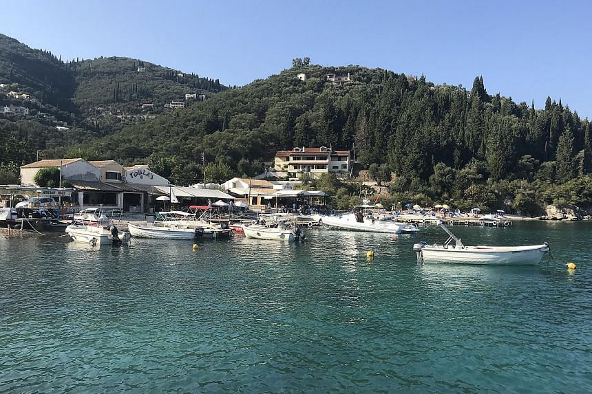 Corfu is a popular island destination in Greece and offers clear blue waters, especially at Agni Bay.