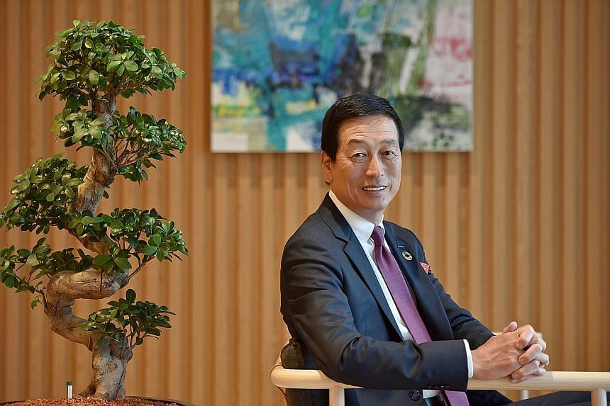 Mr Masahiko Uotani accepted Shiseido's CEO post, he says, because to change the cosmetics company would mean a lot to the nation and he wanted to be a part of that change. It was a move that went down well when announced.