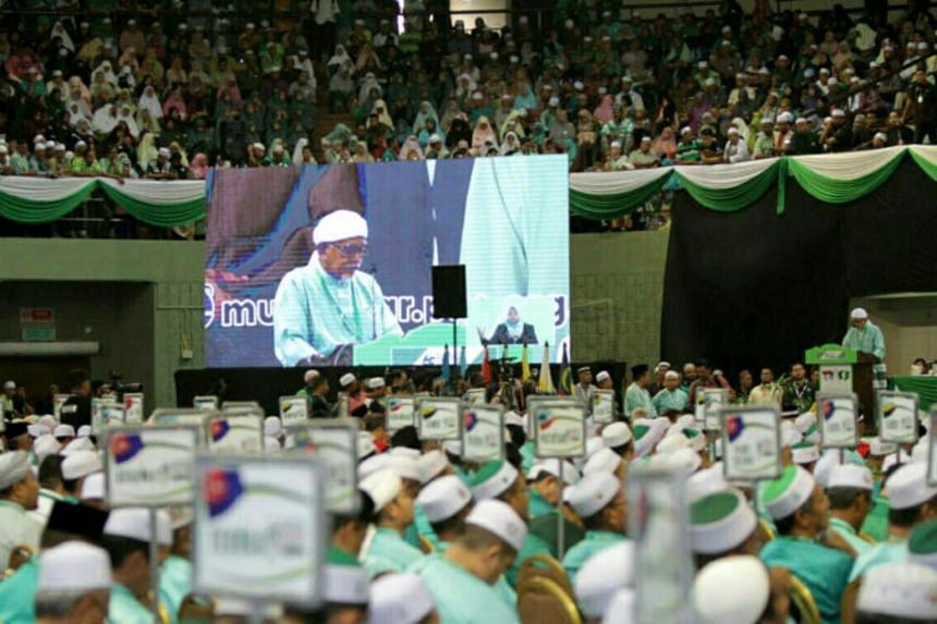 Parti Islam SeMalaysia president Abdul Hadi Awang speaking during the party's annual assembly in Kuantan, Pahang, on June 21, 2019.