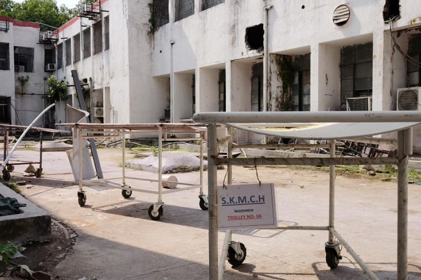Sri Krishna Medical College Hospital which had to evict a group of sick inmates from a ward to accommodate the surge in AES patients.