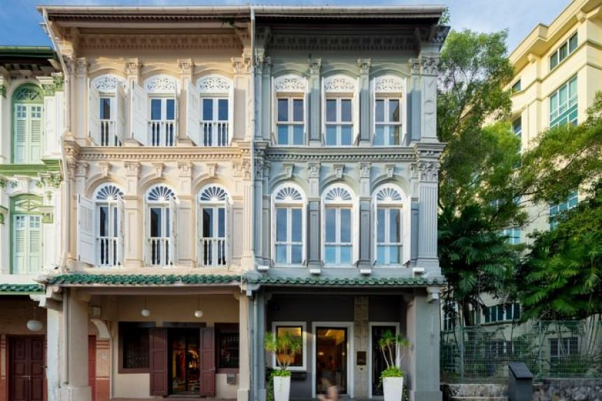 The blue-painted corner shophouse is owned by JerryTan Residential (JTResi). JTResi is a boutique luxury property consultancy founded by real estate magnates Jerry Tan and Jason Tan.