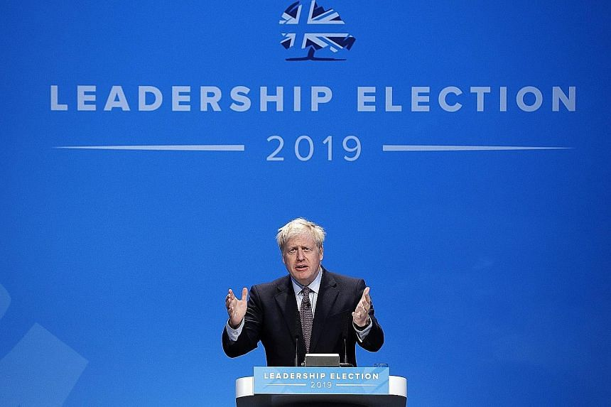 Former UK foreign secretary and Conservative Party leadership candidate Boris Johnson speaking during a hustings event in Birmingham last Saturday, where he made his pitch to party members.