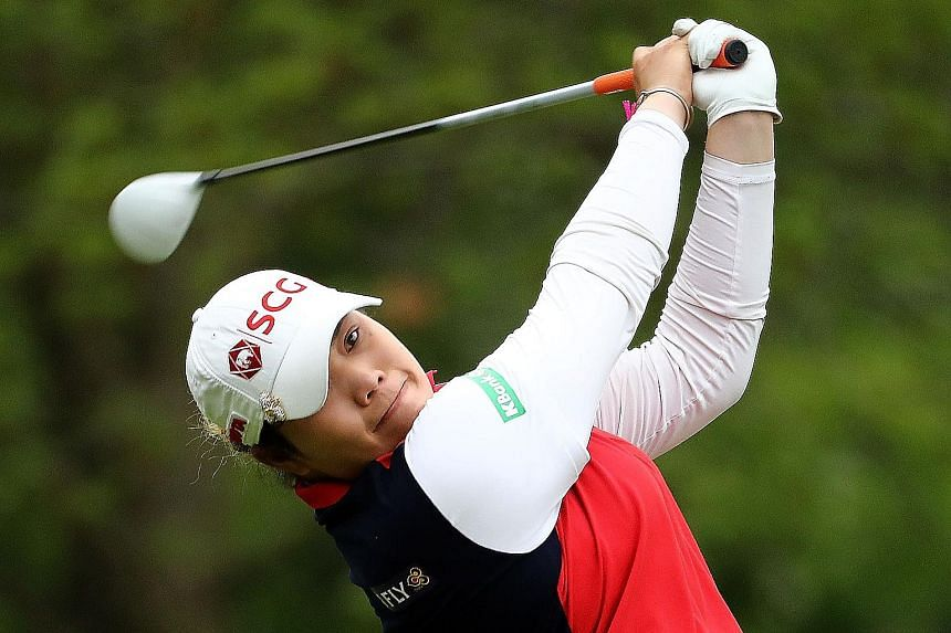 Thailand's Ariya Jutanugarn was three shots behind Hannah Green after 16 holes but a birdie at the 17th, coupled with the Australian's bogey at the last, saw her reduce the deficit to one shot.