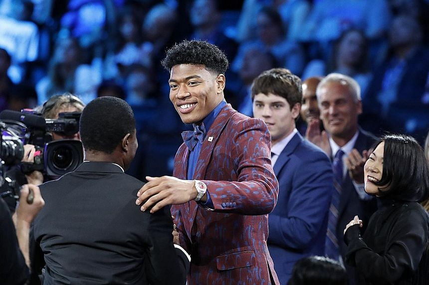 Rui Hachimura on cloud nine after being picked No. 9 by the Washington Wizards in the first round of the 2019 NBA draft last Thursday.