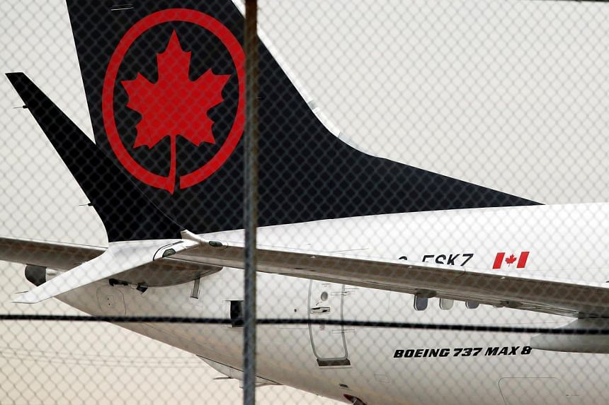 An Air Canada plane parked at Toronto Pearson International Airport in Toronto, Canada on March 13, 2019.