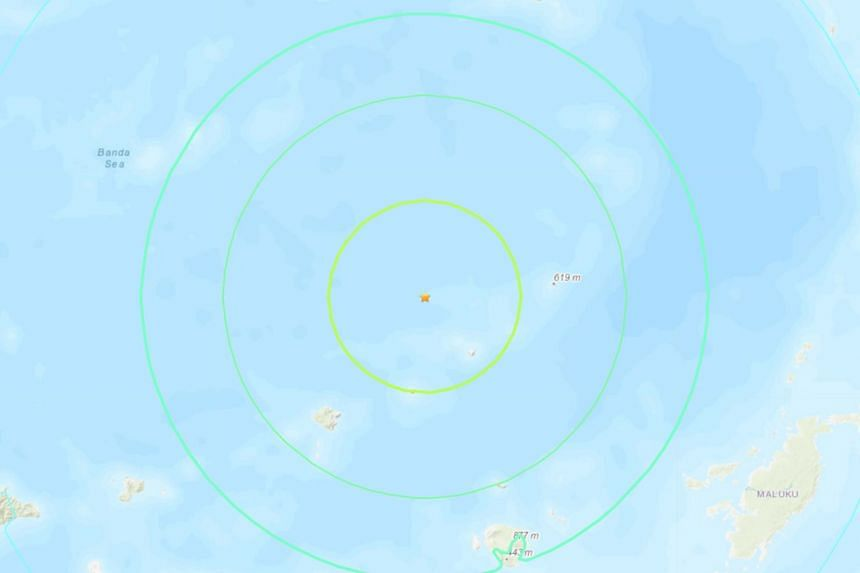 The earthquake of magnitude 7.5 hit at a depth of 220km in the Banda Sea.