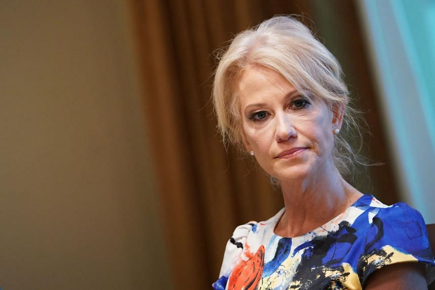 Senior adviser to the US President Kellyanne Conway in the White House in Washington, DC on June 13, 2019. She has been accused of violating the 1939 Hatch Act, which prohibits executive branch employees from engaging in some political activities.