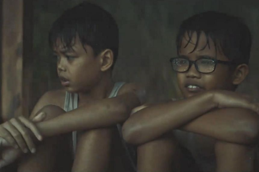 The public will get to decided how the story of two orphaned brothers in PUB's Hari Raya short film, Din (left) and Zul, will end by e-mailing their ideas to the national water agency.