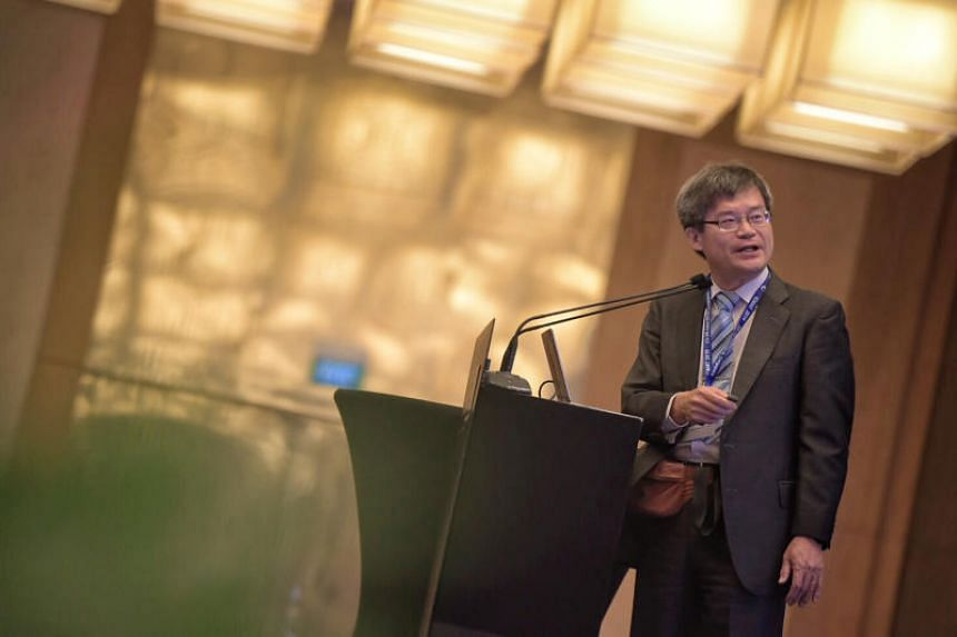 Professor Hiroshi Amano, who won the Nobel Prize in physics in 2014, speaking at the 10th International Conference on Materials for Advanced Technologies.