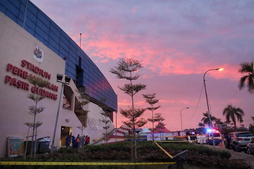The Pasir Gudang indoor stadium was where most of the victims were given first treatment.