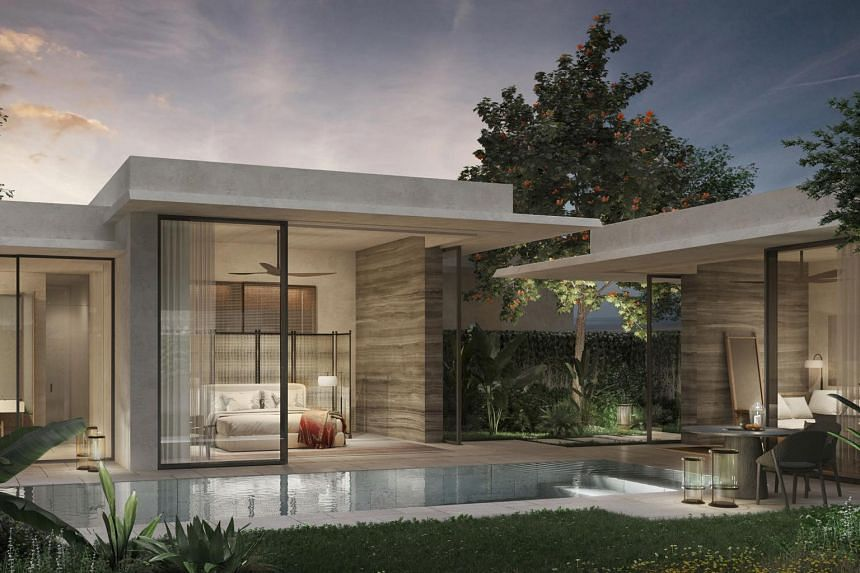 Set to open in 2022, the new Raffles Sentosa Resort & Spa Singapore will feature 61 villas, each with its own private swimming pool.
