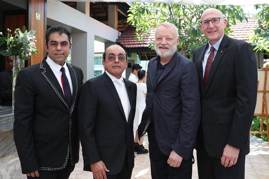 (From left) Bobby Hiranandani and Asok Kumar Hiranandani of Royal Group, Canadian designer Glenn Pushelberg and chairman and Accor chief executive Michael Issenberg.