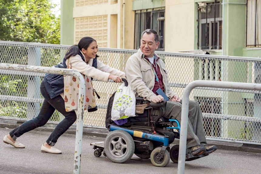 Cinema still from the film Still Human starring Anthony Wong and Crisel Consunji.