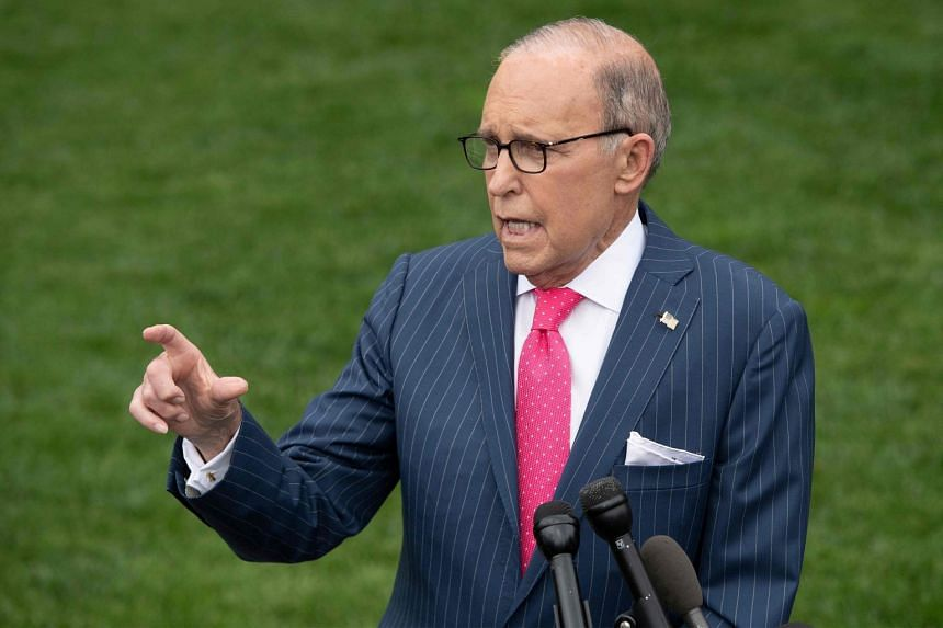 White House economic adviser Larry Kudlow speaks with the media at the White House in Washington, DC, on June 18, 2019.