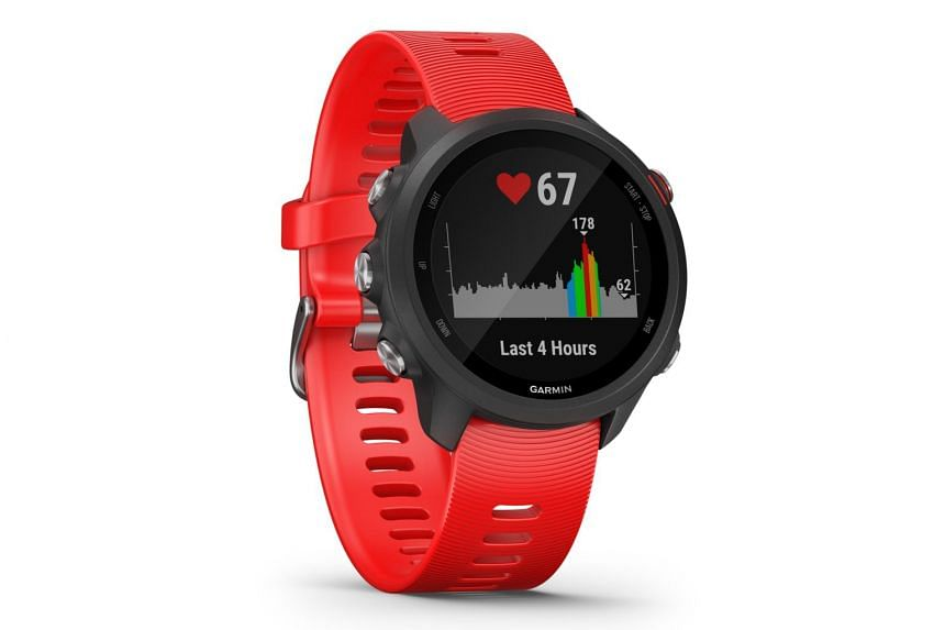 The Garmin Forerunner 245 features all-day fitness tracking, sleep monitoring and GPS-tracked runs.