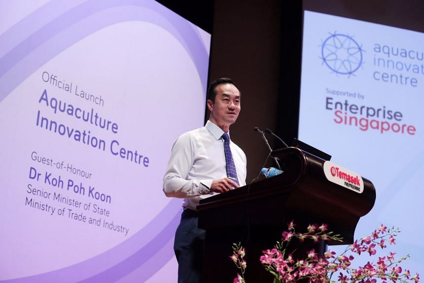 The Aquaculture Innovation Centre was unveiled at Temasek Polytechnic on Wednesday (June 26), with Senior Minister of State, Ministry of Trade and Industry Dr Koh Poh Koon officiating the launch.