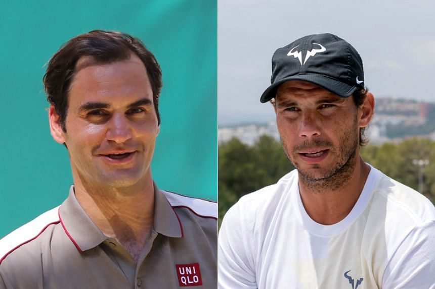 Roger Federer (left) bumped Rafael Nadal down to third despite being ranked below the Spaniard.