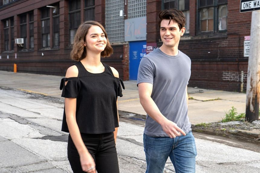 Still from The Last Summer starring K.J. Apa and Maia Mitchell.