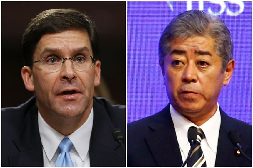 Acting US Defence Secretary Mark Esper (left) held talks with Japanese Minister of Defence Takeshi Iwaya to strengthen the Japan-US alliance.