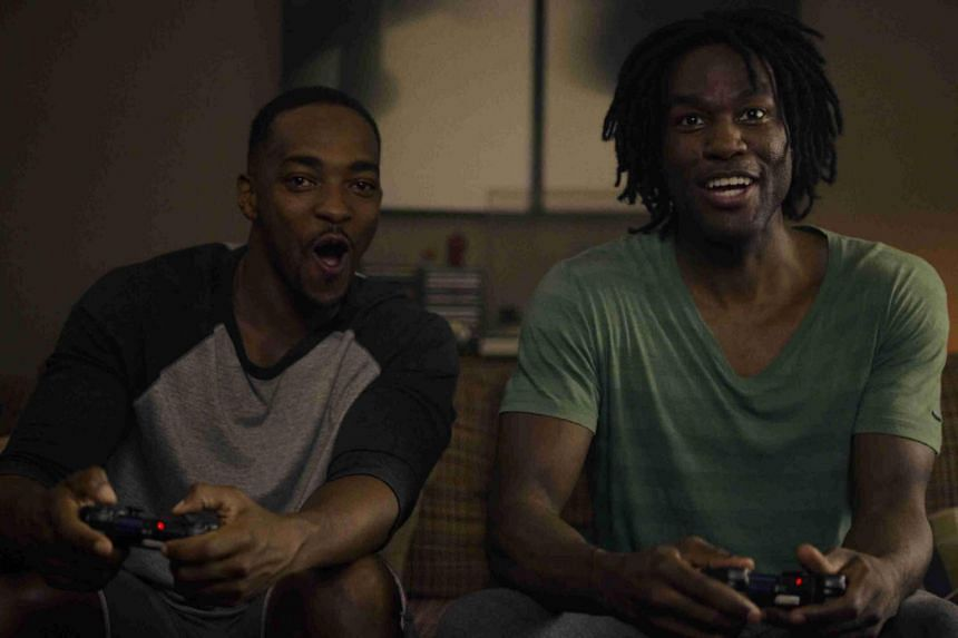 Anthony Mackie and Yahya Abdul-Mateen II star in Striking Vipers, an episode of Black Mirror's fifth season.