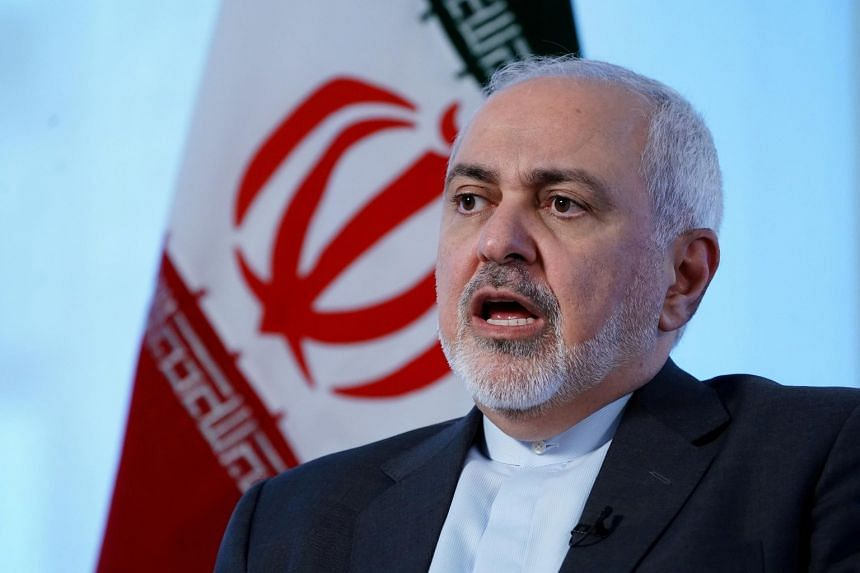 Iran's Foreign Minister Mohammad Javad Zarif participating in an interview in New York, on April 24, 2019.