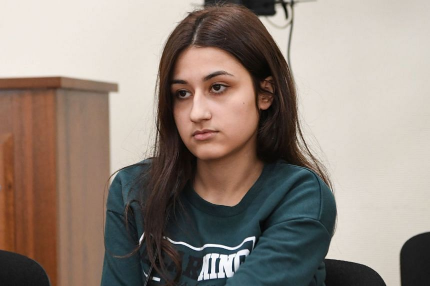 Krestina Khachaturyan attends a hearing at a court in Moscow on June 26, 2019.
