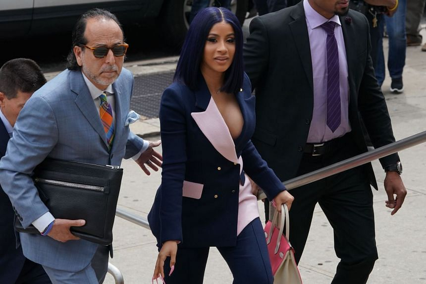 Cardi B arrives for her arraignment in Queens, New York.