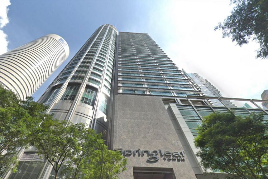 Springleaf Tower, at the junction of Anson Road, is a 37-storey office building in Singapore's central business district. The sale offering, which will be sold on a vacant possession basis, comes with exclusive use of the lift lobby, restrooms and