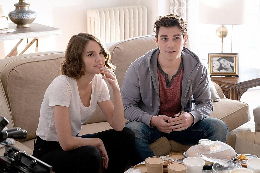 Maia Mitchell and K.J. Apa in Netflix's new romantic comedy, The Last Summer.