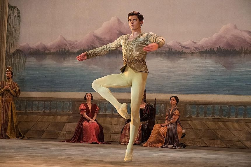 The White Crow stars Oleg Ivenko (above) as Russian ballet dancer Rudolf Nureyev.