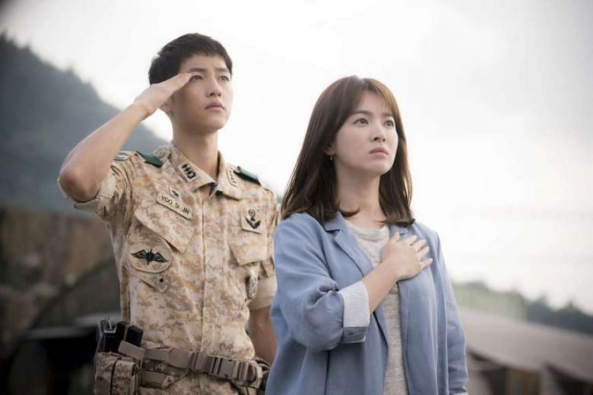 The celebrity couple met while filming the 2016 hit drama series Descendants Of The Sun.