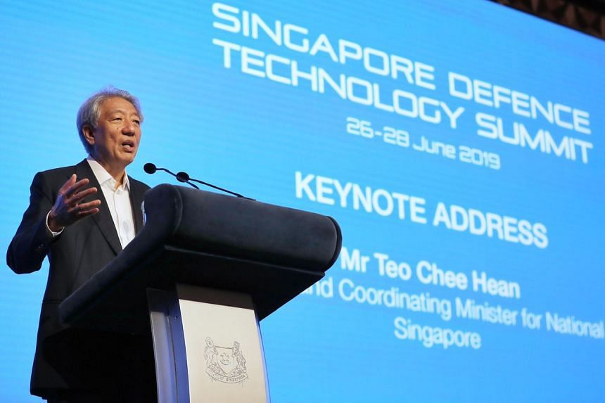 Senior Minister Teo Chee Hean suggested three questions for discussion for the audience, which had gathered to discuss topics around the theme of proliferation of technology and its implications on defence, security and society.