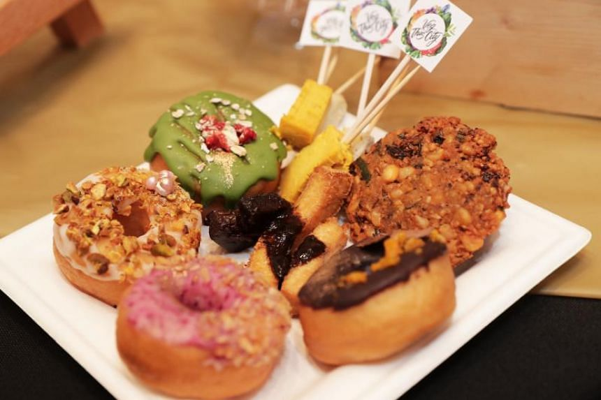 An array of vegan treats, which are available on the Singapore Vegan Food Crawl. Ms Eiktha Khemlani, founder and owner of food tour company VegThisCity, will be taking diners on the crawls.