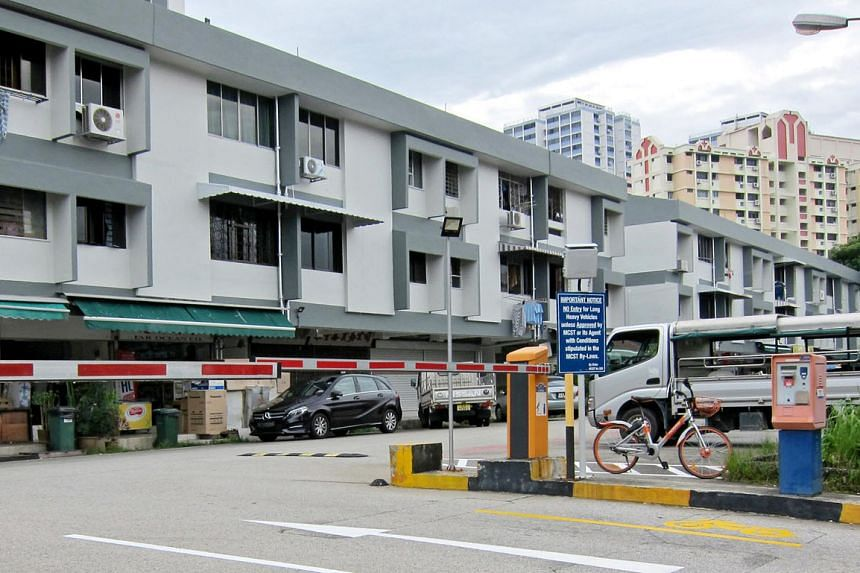 The Phoenix Road development on the collective sale market comprises 24 apartments and 12 shops spread over two three-storey blocks with a 99-year lease starting Jan 1, 1969. PHOTO: COLLIERS INTERNATIONAL