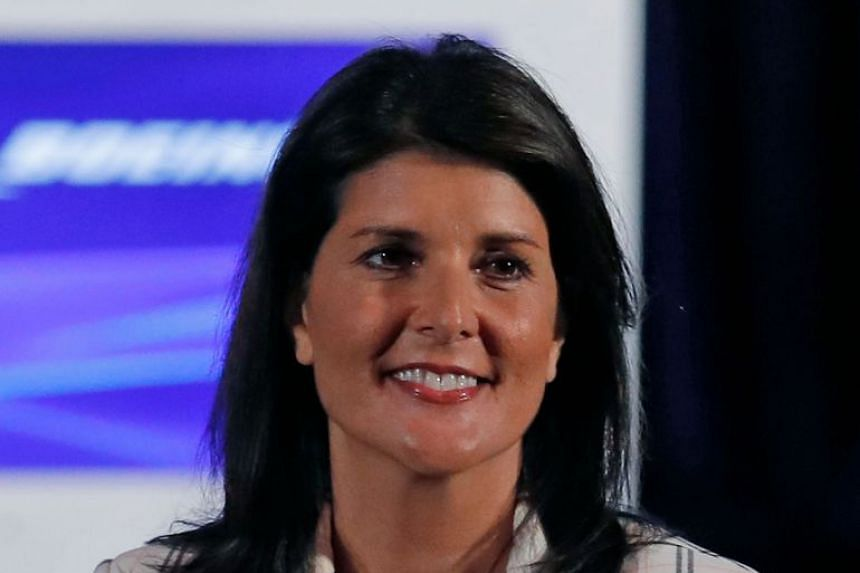 Haley (above) is the former US ambassador to the United Nations.