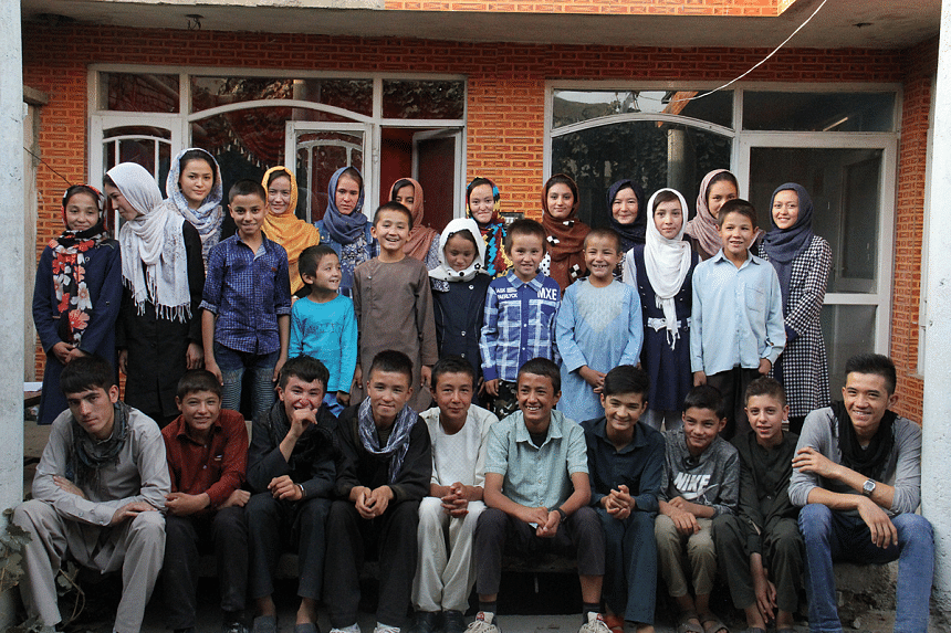 A group of ROYA Mentorship Program-Kabul students after showing wonderful results in their classes. Based on a sponsorship system, this program provides them with access to English courses, computer training and internet skills. PHOTO: ASIF RASOOLY