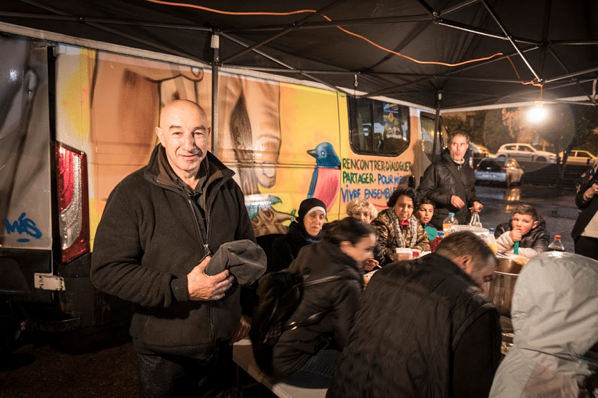 As a repentant former robber, Yazid Kherfi inspires respect in the communities he visits. PHOTO: FRANÇOIS BOUCHON/LE FIGARO