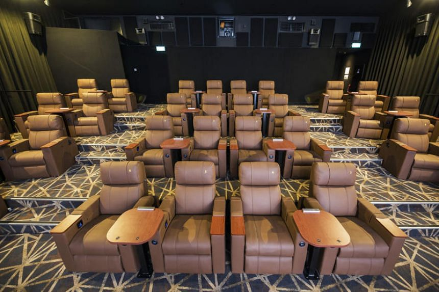 GV Funan's 32-seat Gold Class Express hall has the same large leatherette reclining seats found in Gold Class halls in other GV multiplexes.