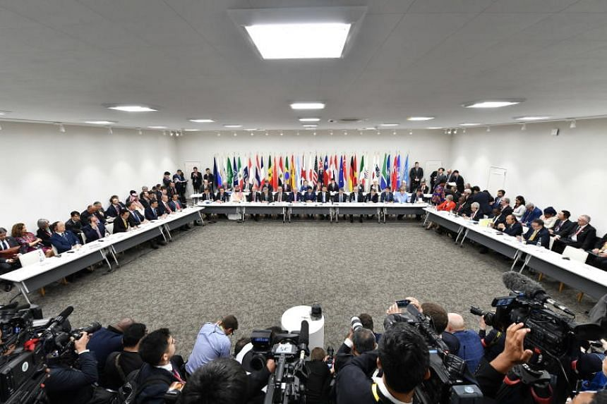 The declaration was adopted by 24 signatories, including China, the European Union, the United States and Singapore, at the Group of 20 leaders' summit.