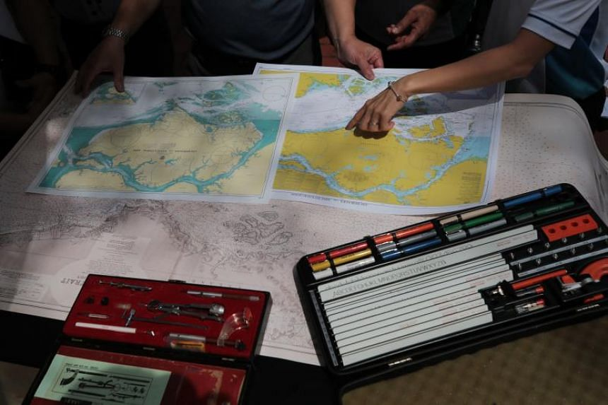 An exhibition consisting of hydrography and cartography artefacts during a World Hydrography Day celebration event at Fort Canning on June 28, 2019.