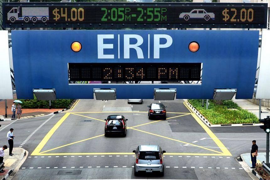 An ERP gantry at Anson Road.