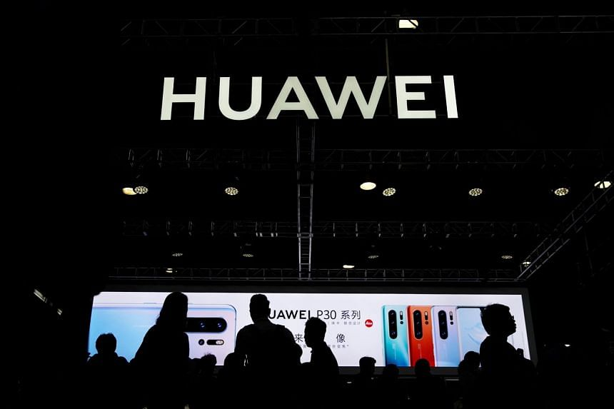 A Huawei logo seen at the Consumer Electronics Show Asia 2019 in Shanghai on June 11, 2019.
