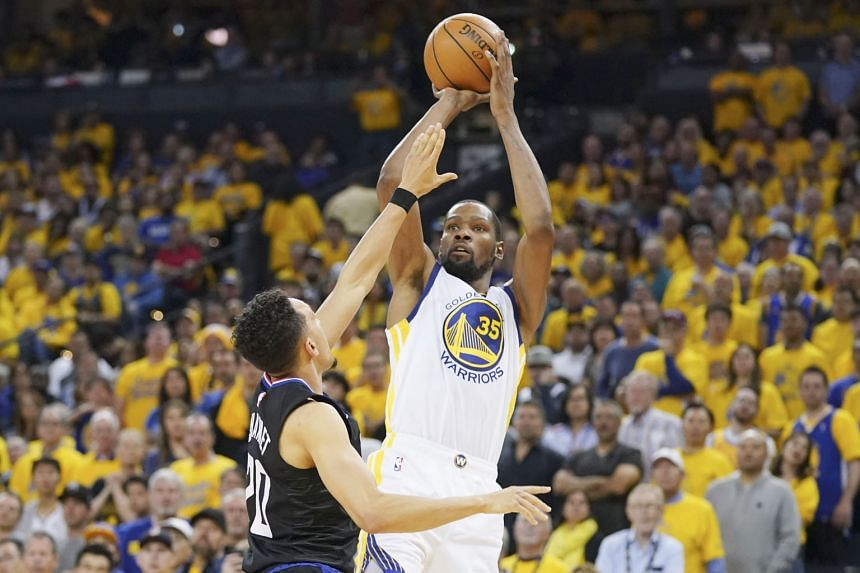 Golden State Warriors forward Kevin Durant suffered a calf injury in Game 5 of the play-off semi-finals against Houston Rockets before rupturing his Achilles tendon in Game 5 of the NBA Finals series against Toronto Raptors. PHOTO: REUTERS
