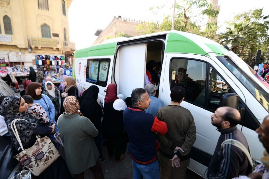 A mobile medical scanning unit used to detect infected with Hepatitis C virus in Cairo. PHOTO: MOHAMED SHOKRY, ALMASRY ALYOUM