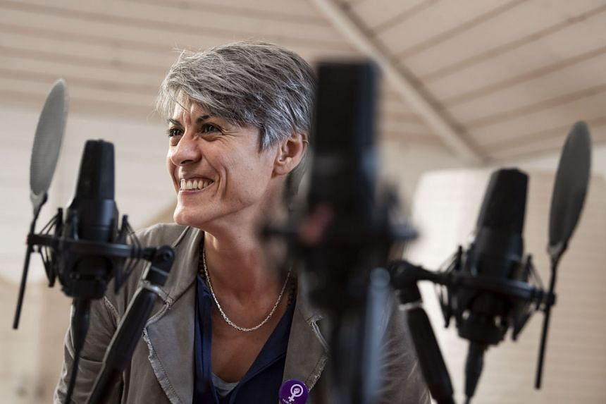 Chiara Spata, project director of Radio Chiara, a Swiss radio channel with the objective to create an inclusive network for different cultures and generations, as well as a space for dialogue between locals and foreigners. PHOTO: TI-PRESS/PABLO GIANI