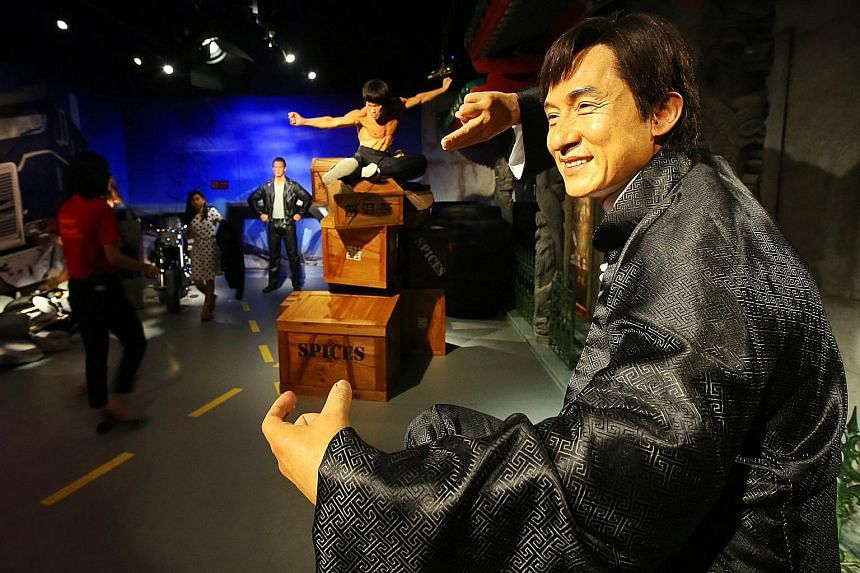 Movie star Jackie Chan was among the figures featured at the Madame Tussauds' waxwork show in Sentosa in 2014. An investor group that includes the family behind the Lego empire, Blackstone Group and Canadian pension fund CPPIB agreed to buy Merlin En