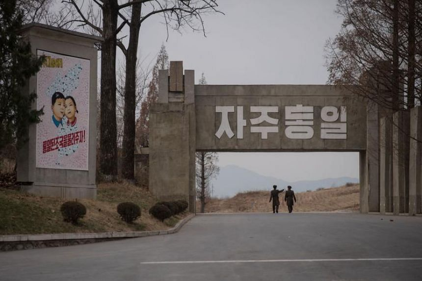 Questions remain whether North Korean leader Kim Jong Un will show up at the demilitarised zone separating the two Koreas (above) after an invitation by US President Donald Trump to meet there.