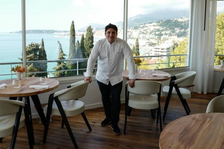 Italian-Argentinian chef Mauro Colagreco at his restaurant, Mirazur, on the French riviera city of Menton.